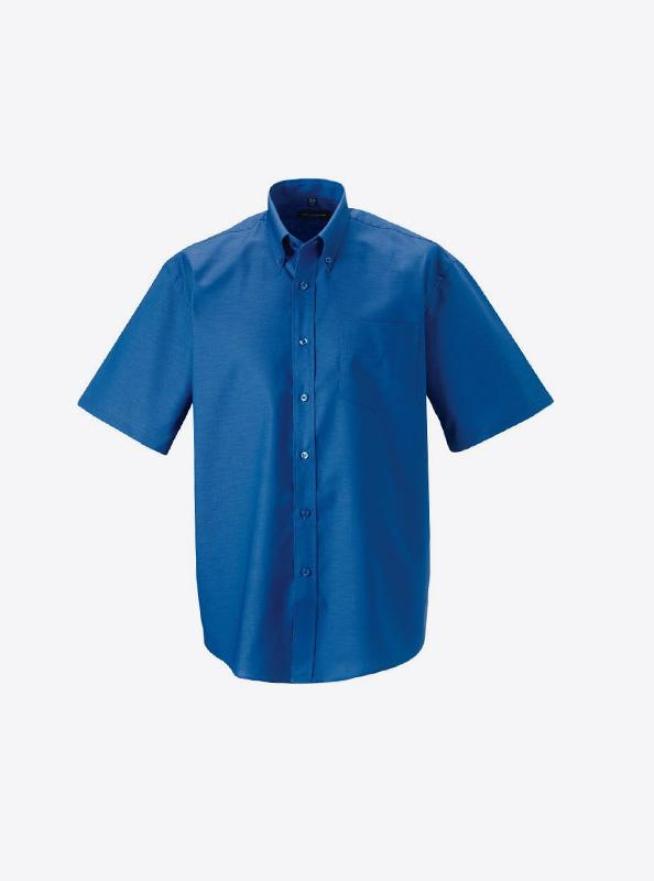 Hemd Herren Kurzarm Fuer Event Mit Logo Bedrucken Oder Besticken Russell 933m Farbe Aztec Blue