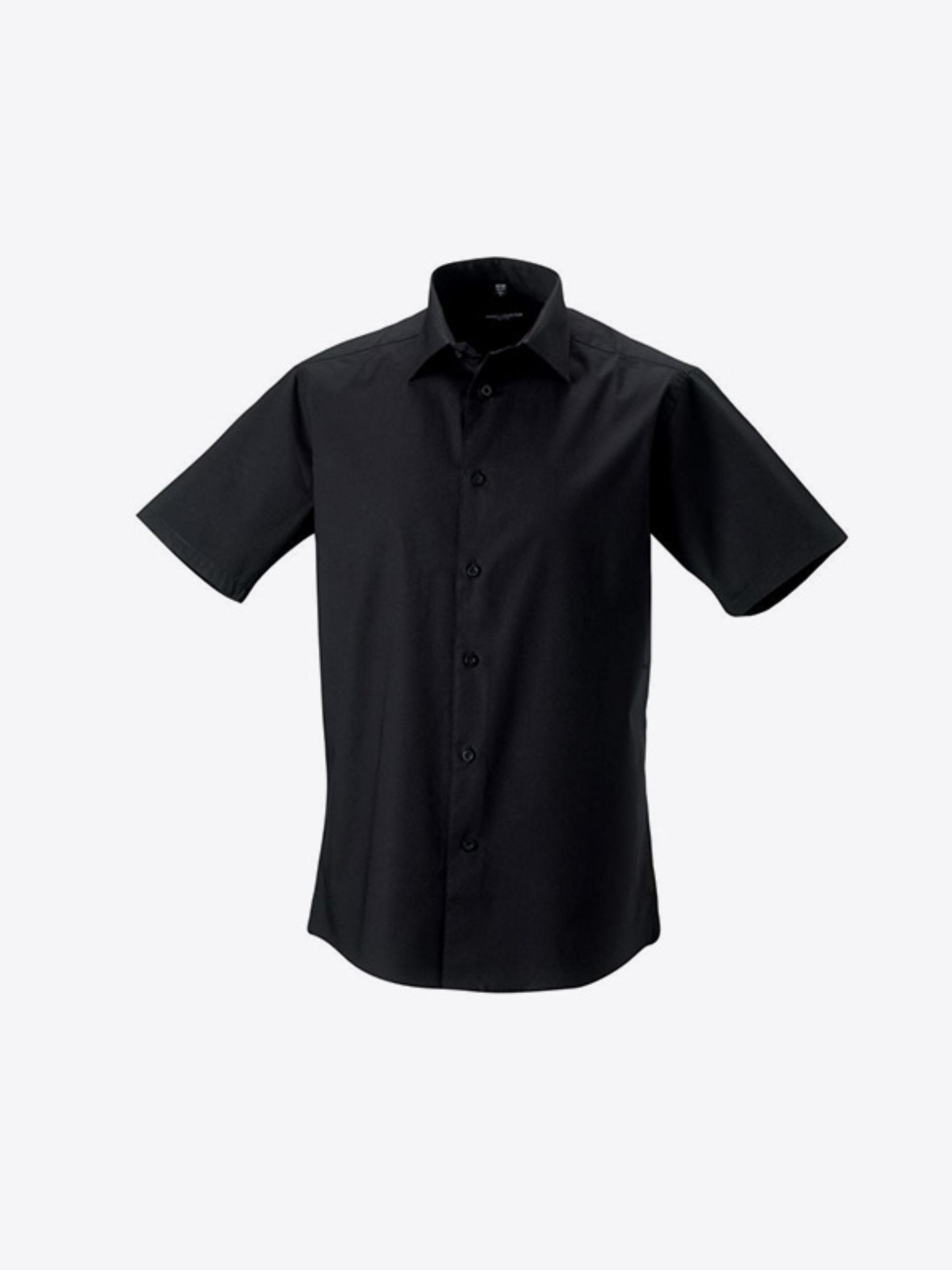 Hemd Kurzarm Fuer Herren Mit Logo Drucken Russell 947m Farbe Black