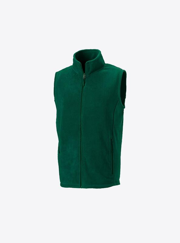 Herren Fleece Gilet Mit Logo Besticken Russell 870m Farbe Bottle Green