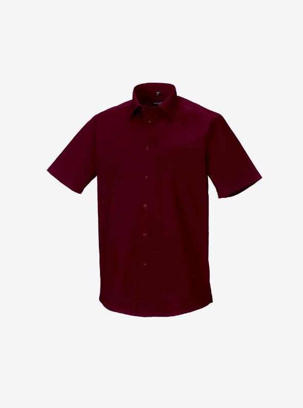 Herren Hemd Kurzarm Mit Logo Bedrucken Besticken Russell 947m Farbe Port