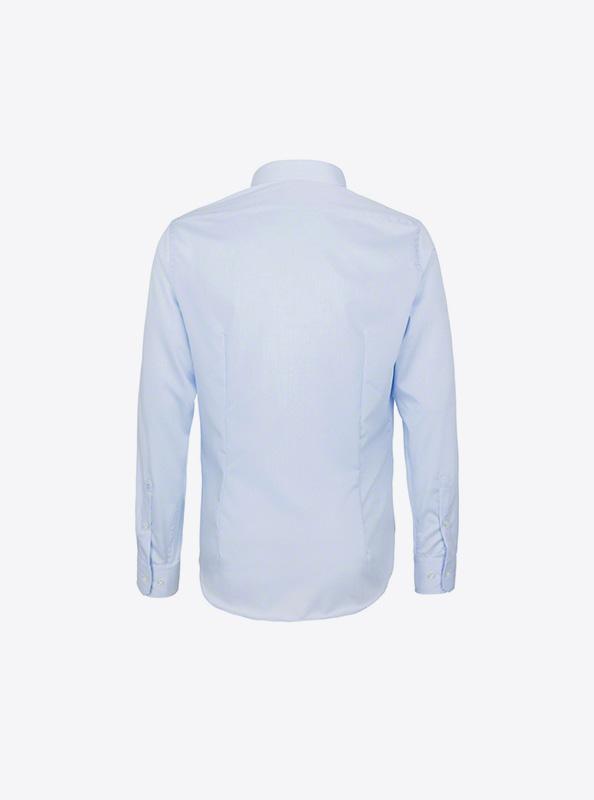 Herren Hemd Langarm Mit Logo Bedrucken Besticken Hakro 105 Farbe Sky