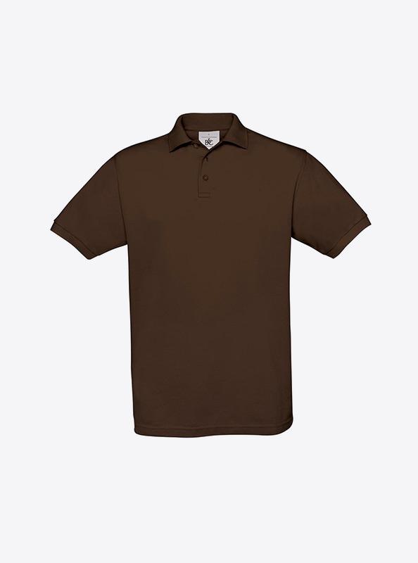 Herren Polo Shirt Auf Brust Besticken Lassen Bundc Safran Pu409 Brown