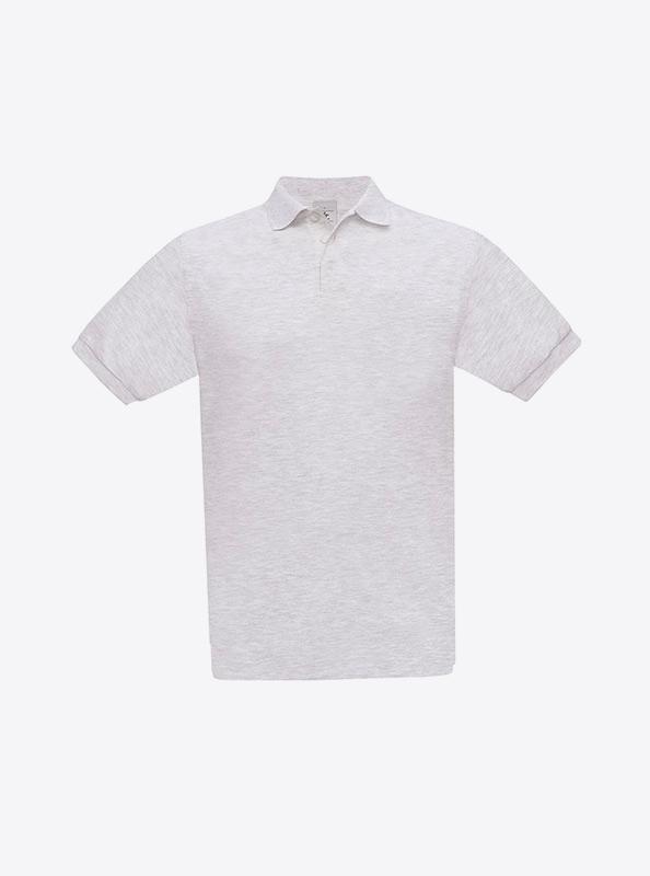 Herren Polo Shirt Bedrucken Besticken Lassen Bundc Safran Pu409 Ash
