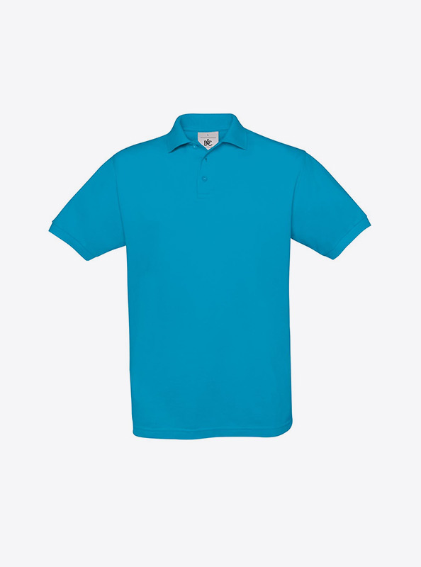 Herren Polo Shirt Bedrucken Besticken Lassen Bundc Safran Pu409 Atoll