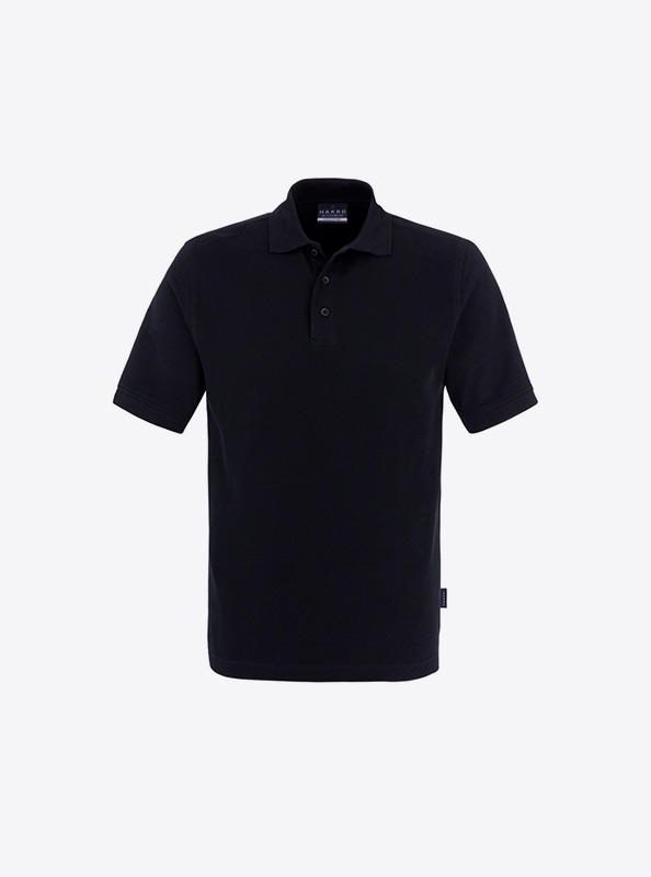 Herren Polo Shirt Bedrucken Lassen Hakro 810 Classic Schwarz