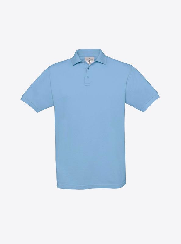 Herren Polo Shirt Besticken Bundc Safran Pu409 Sky Blue