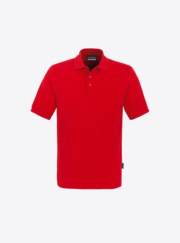 Herren Polo Shirt Besticken Hakro 810 Classic Rot