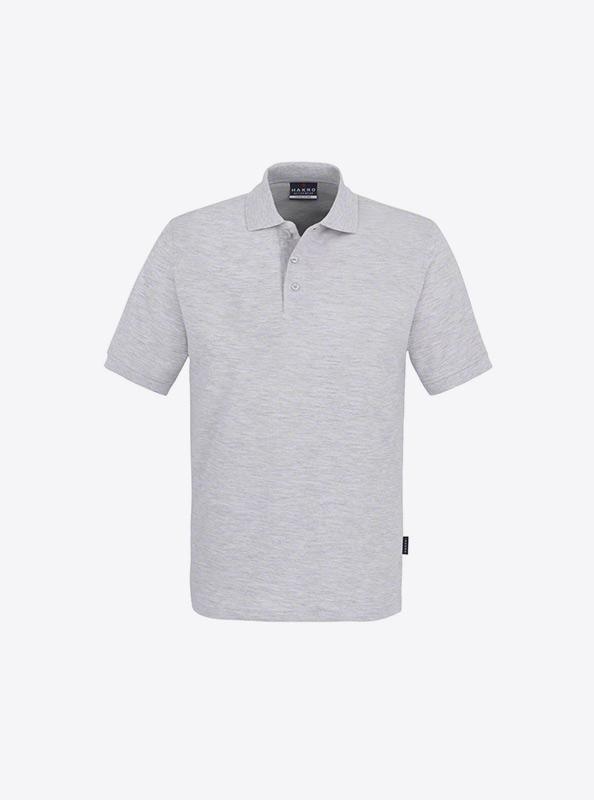 Herren Polo Shirt Besticken Lassen Hakro 810 Classic Ash Meliert