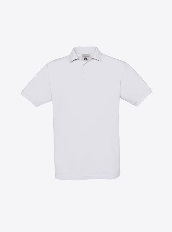 Herren Polo Shirt Besticken Und Bedrucken Bundc Safran Pu409 White