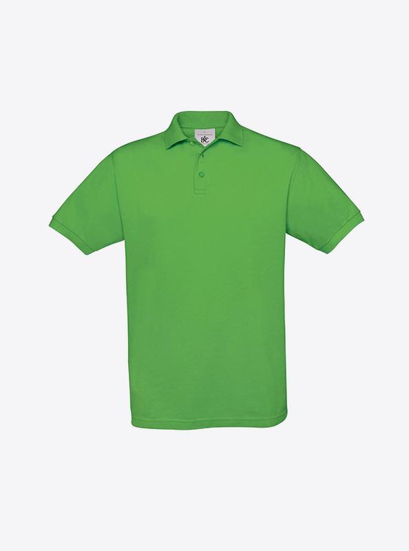 Herren Polo Shirt Drucken Und Besticken Mit Logo Bundc Safran Pu409 Real Green