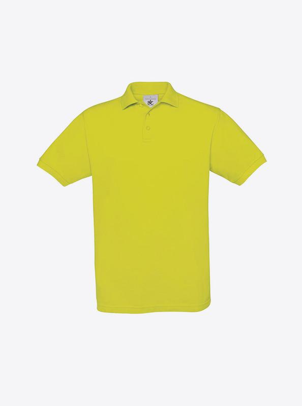 Herren Polo Shirt Fuer Firma Bedrucken Lassen Bundc Safran Pu409 Pixel Lime