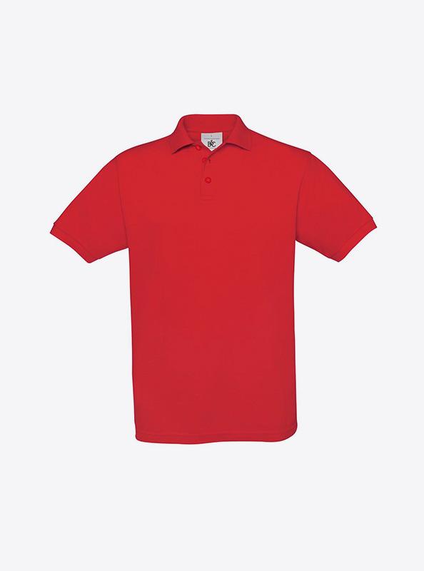 Herren Polo Shirt Guenstig Besticken Lassen Bundc Safran Pu409 Red