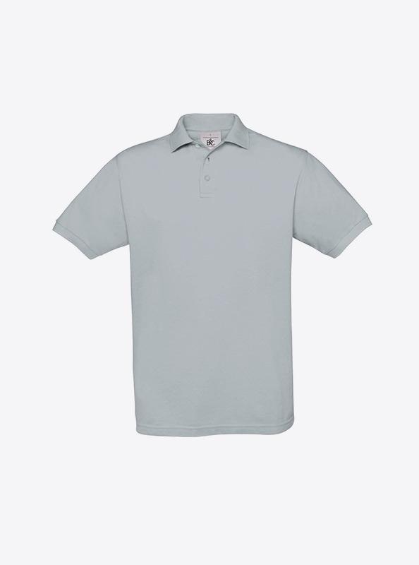Herren Polo Shirt In Zuerich Besticken Lassen Bundc Safran Pu409 Pacific Grey
