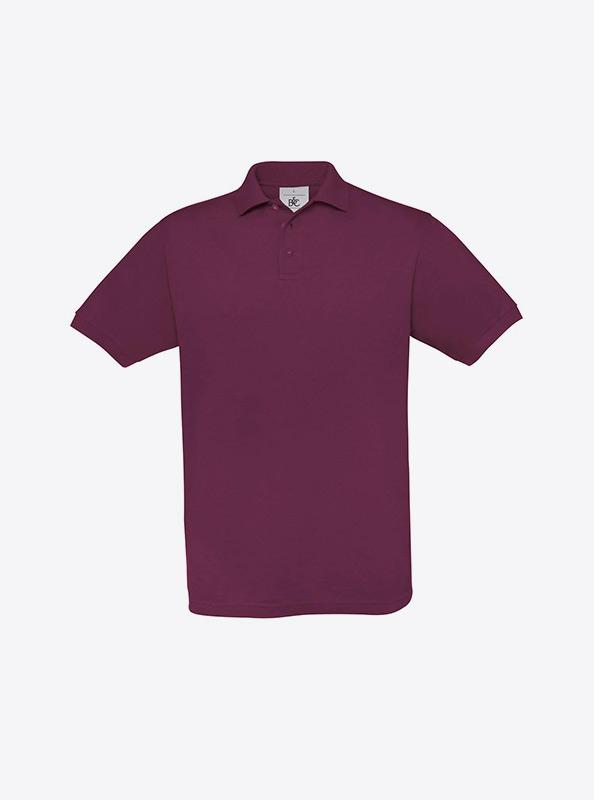 Herren Polo Shirt Individuell Besticken Bundc Safran Pu409 Burgundy