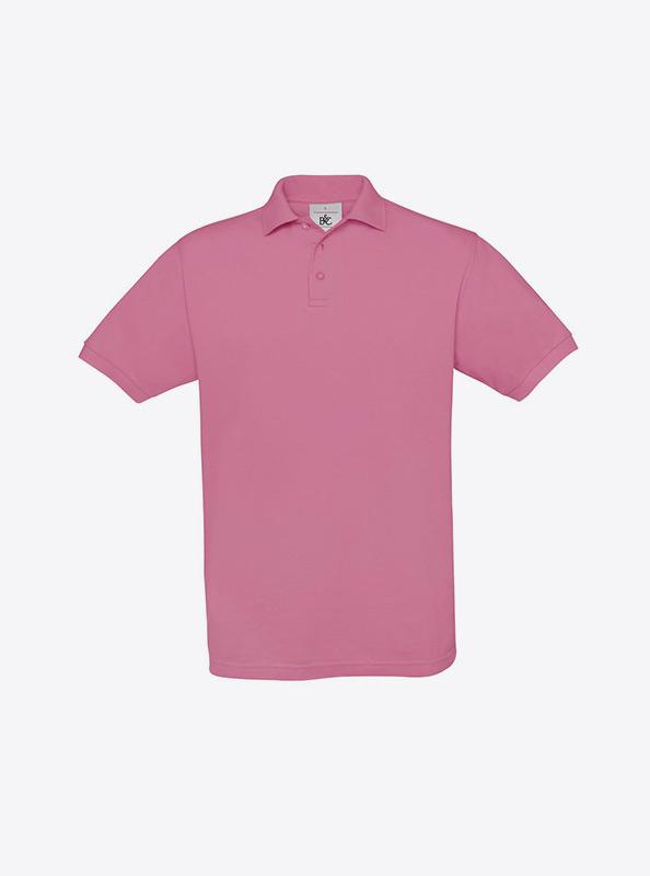 Herren Polo Shirt Individuell Besticken Lassen Auf Brust Bundc Safran Pu409 Pixel Pink