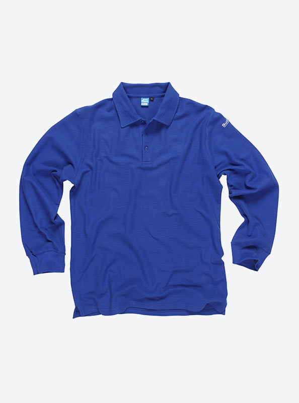 Herren Polo Shirt Langarm Besticken