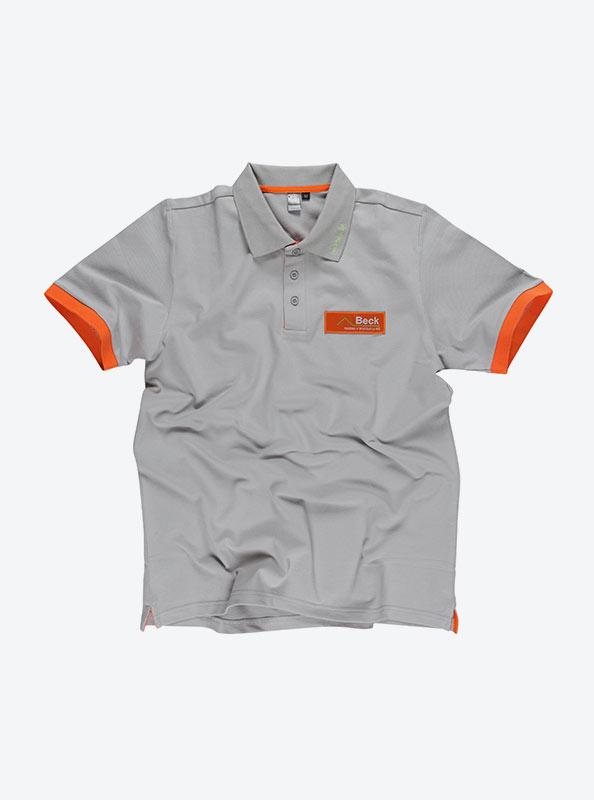 Herren Polo Shirt Mit Aufnaeher