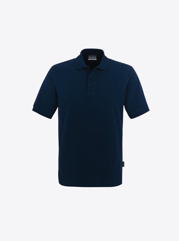 Herren Polo Shirt Mit Druck Auf Ruecken Hakro 810 Classic Tinte