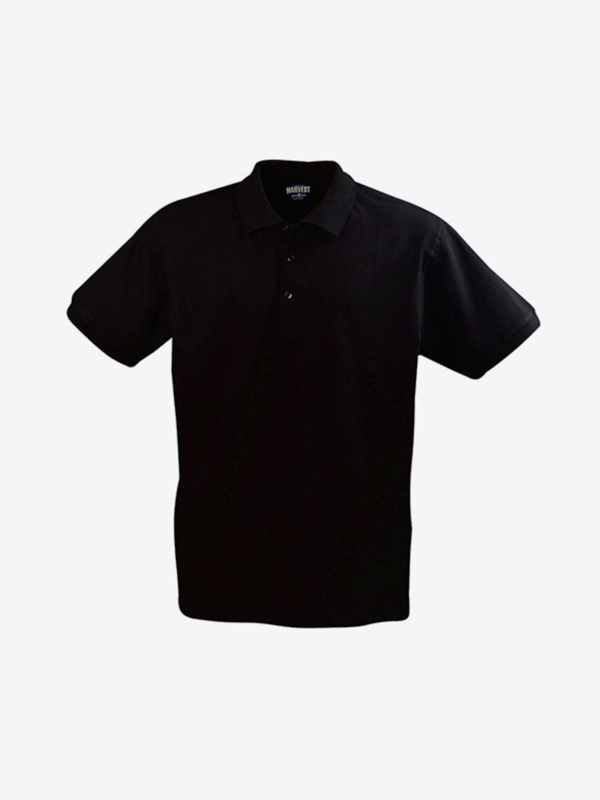 Herren Polo Shirt Mit Firmenlogo Besticken Lassen Harvest Eagle Schwarz