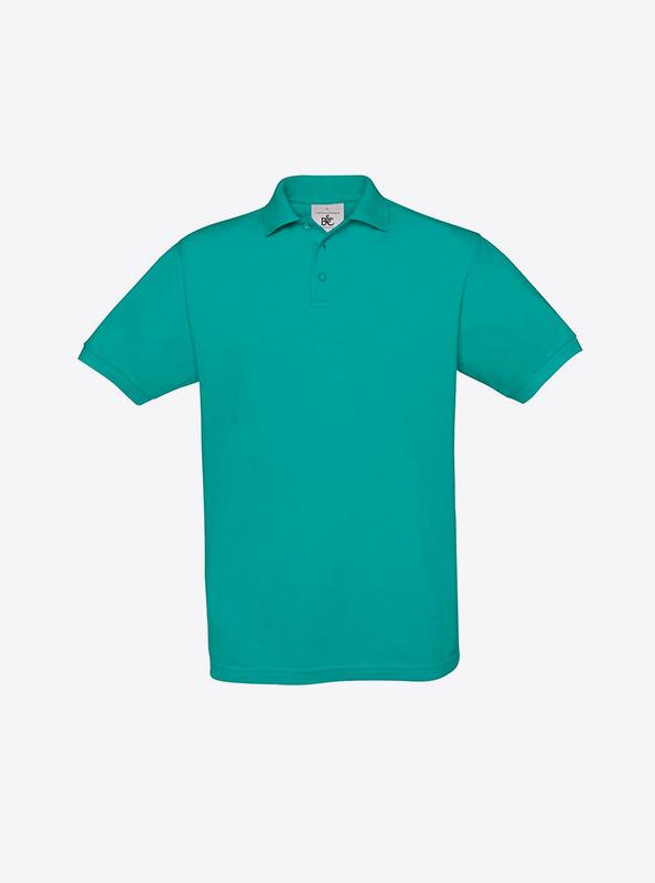 Herren Polo Shirt Mit Grosser Stickerei Guenstig Bundc Safran Pu409 Real Turquoise