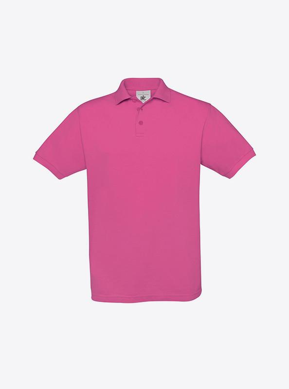 Herren Polo Shirt Mit Logo Besticken Auf Brust Bundc Safran Pu409 Fuchsia