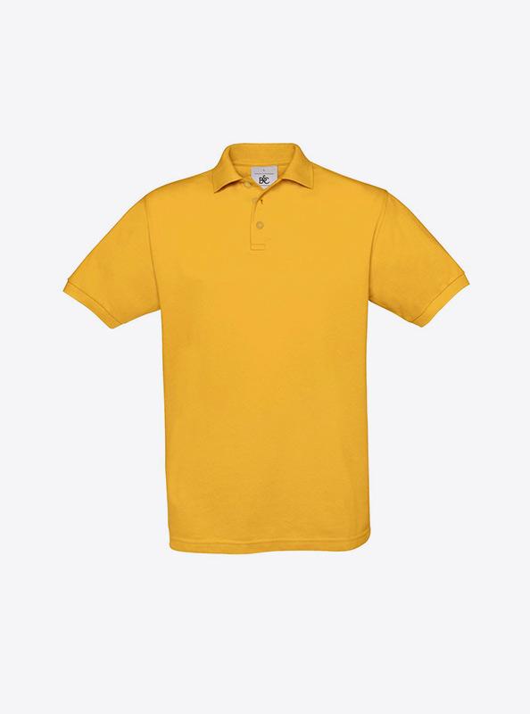 Herren Polo Shirt Mit Logo Besticken Auf Brust Bundc Safran Pu409 Gold