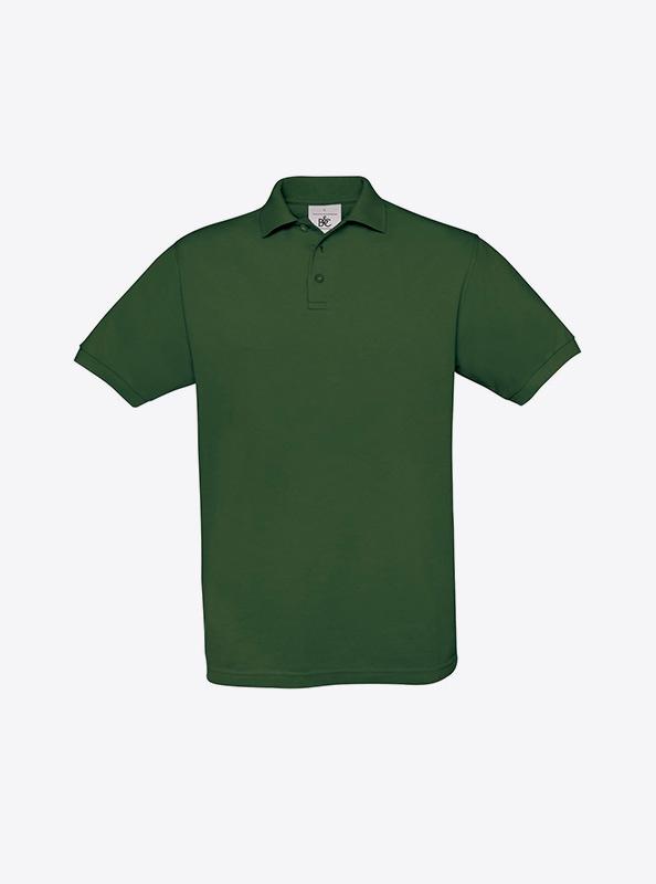 Herren Polo Shirt Mit Logo Besticken Bundc Safran Pu409 Bottle Green