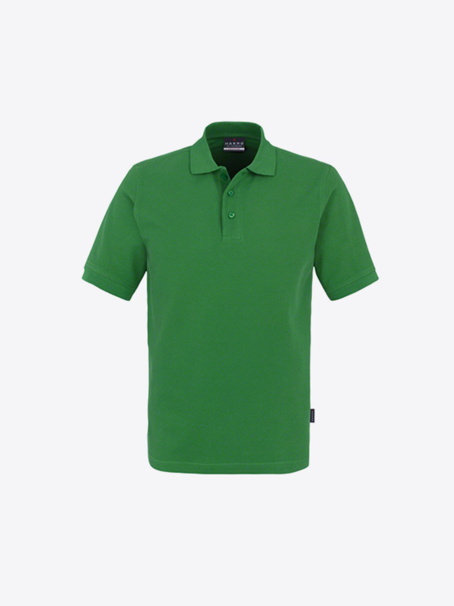 Herren Polo Shirt Mit Logo Besticken Hakro 810 Classic Wasabi