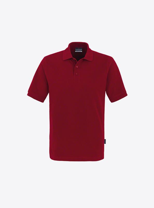Herren Polo Shirt Mit Logo Besticken Hakro 810 Classic Weinrot