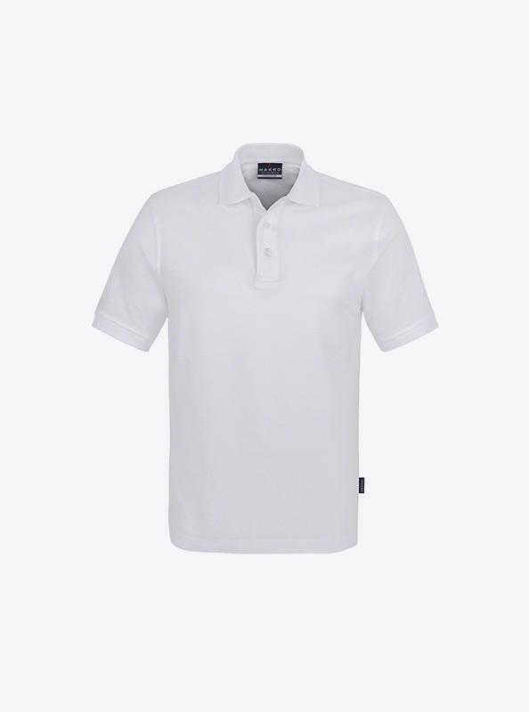 Herren Polo Shirt Mit Logo Besticken Hakro 810 Classic Weiss