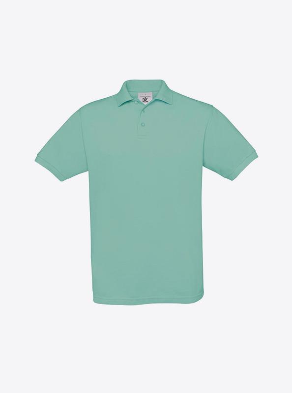 Herren Polo Shirt Mit Schoener Stickerei Selber Gestalten Bundc Safran Pu409 Pixel Turquoise