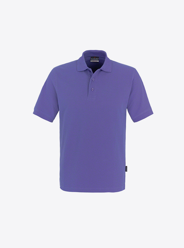 Herren Polo Shirt Mit Siebdruck Bedrucken Mit Logo Hakro 810 Classic Lavendel