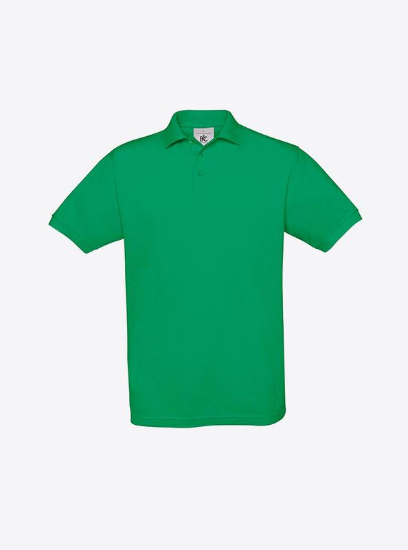 Herren Polo Shirt Mit Werbung Besticken Bundc Safran Pu409 Kelly Green