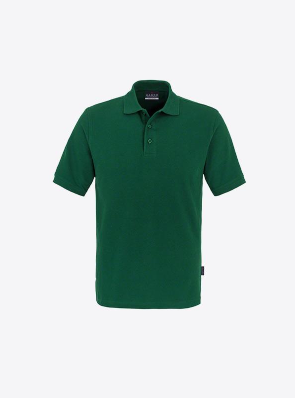 Herren Polo Shirt Schoen Besticken Hakro 810 Classic Tanne