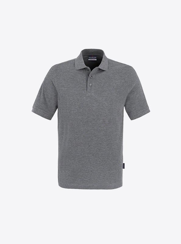 Herren Polo Shirts Auf Brust Besticken Lassen Hakro 810 Classic Grau Meliert