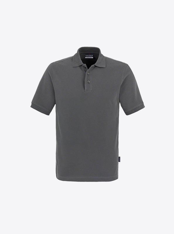 Herren Polo Shirts Fuer Firma Besticken Hakro 810 Classic Graphit