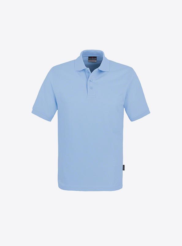 Herren Polo Shirts Mit Siebdruck Bedrucken Lassen Hakro 810 Classic Ice Blue