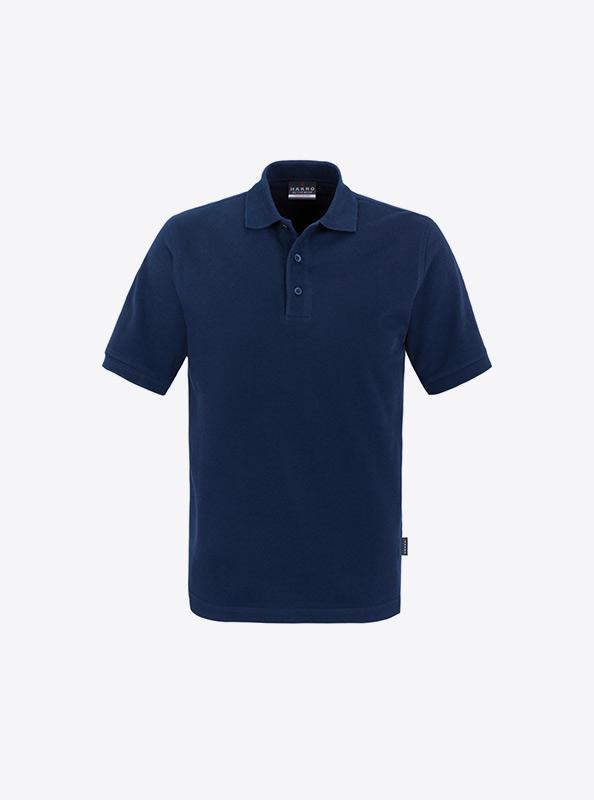 Herren Polo Shirts Mit Werbung Besticken Lassen Hakro 810 Classic Marine