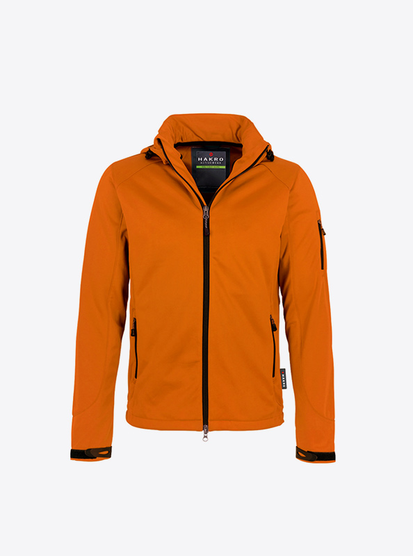 Herren Softshelljacke Hakro 848 Ontario Bedrucken Mit Logo Besticken Lassen Farbe Orange