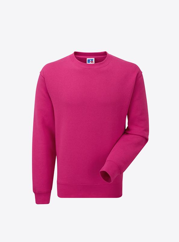 Herren Sweatshirt Bedrucken In Zuerich Russell 262M Fuchsia