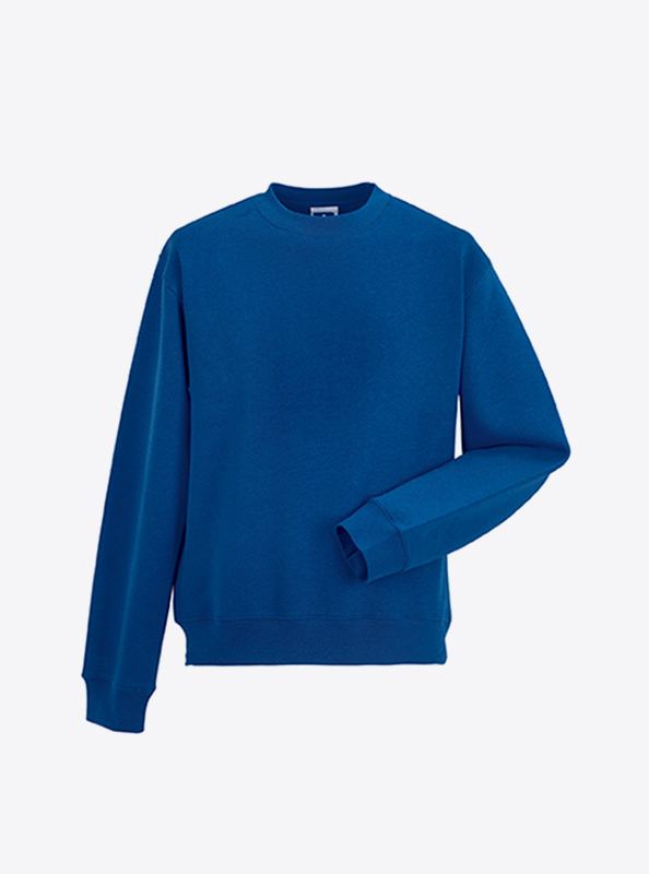 Herren Sweatshirt Bedrucken Lassen Mit Logo Russell 262M Bright Royal