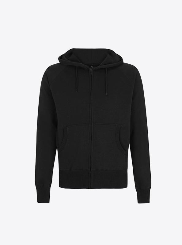 Herren Sweatshirt Bedrucken Lassen Zip Hoodie Continental N51z Black