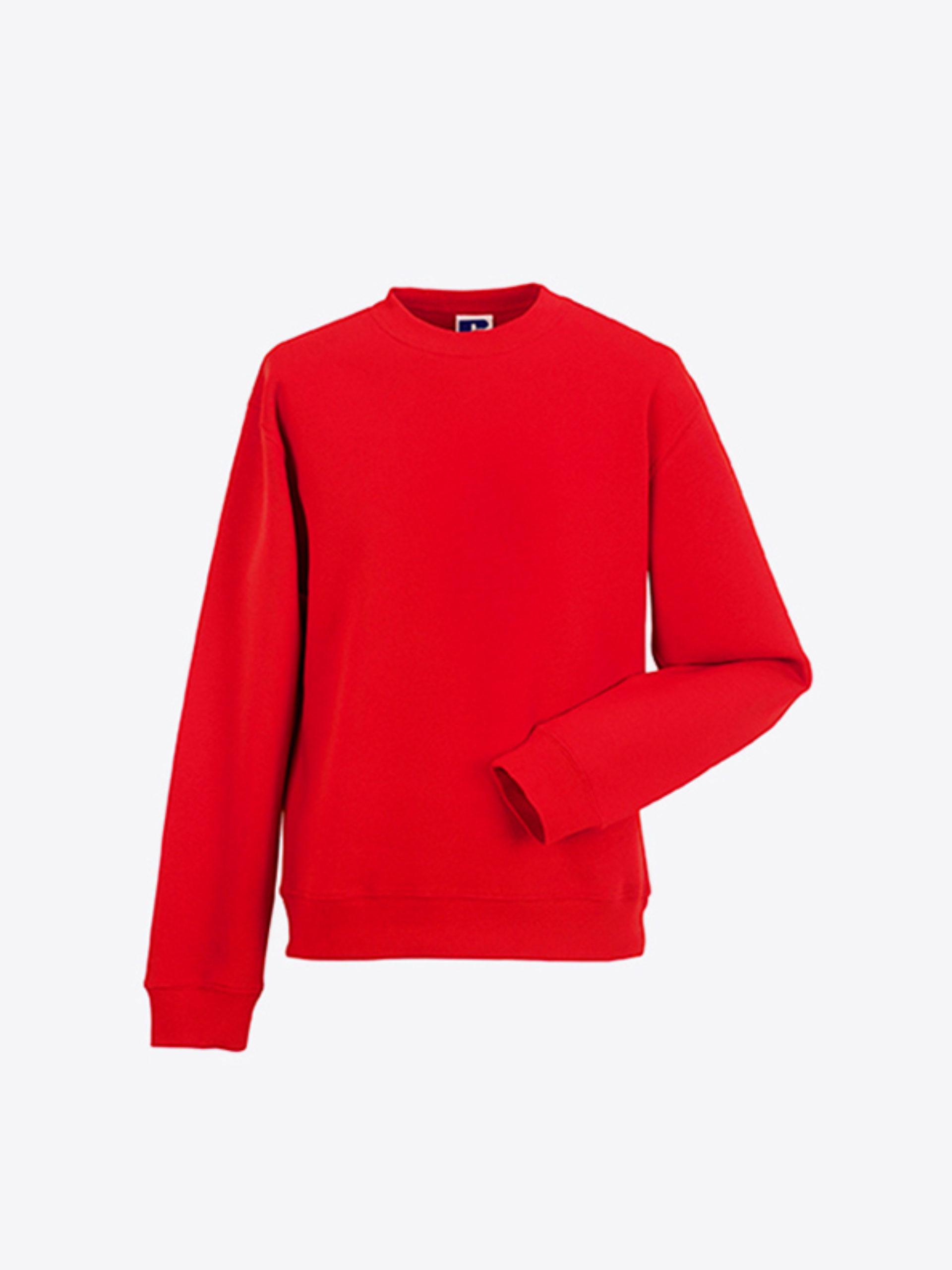 Herren Sweatshirt Individuell Bedrucken Oder Besticken Russell 262M Classic Red
