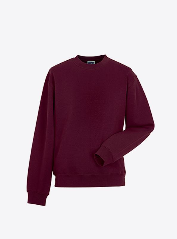 Herren Sweatshirt Individuell Bedrucken Russell 262M Burgundy