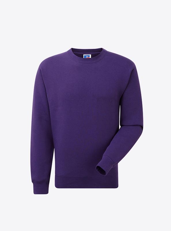 Herren Sweatshirt Mit Flockdruck Russell 262M Purple