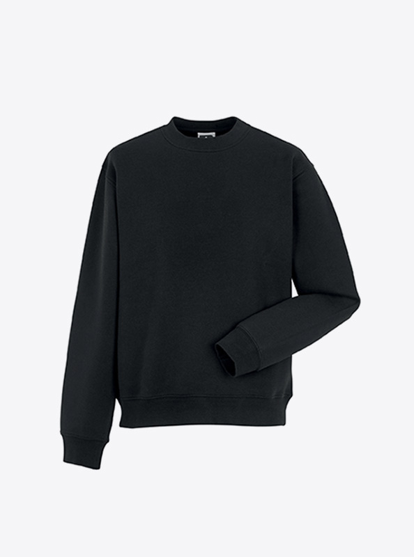 Herren Sweatshirt Mit Siebdruck Bedrucken Lassen Russell 262M Black