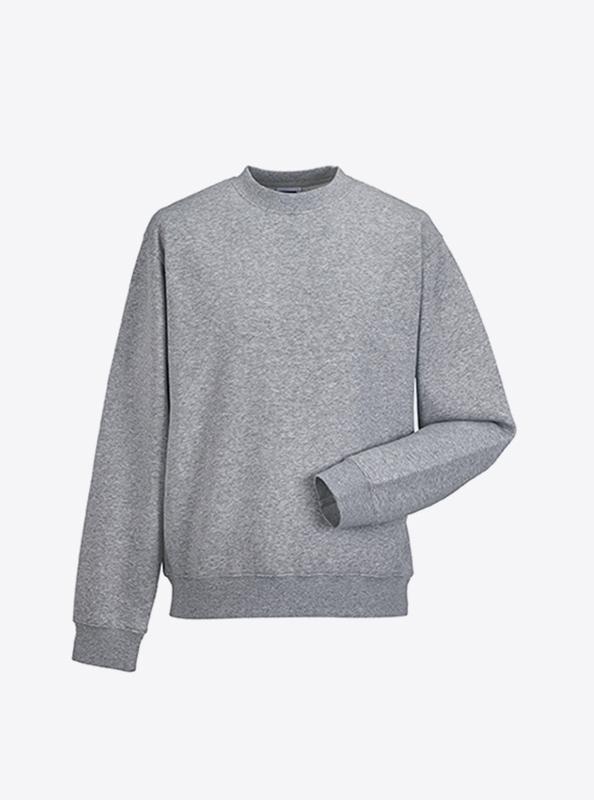 Herren Sweatshirt Mit Transferdruck Bedrucken Russell 262M Light Oxford