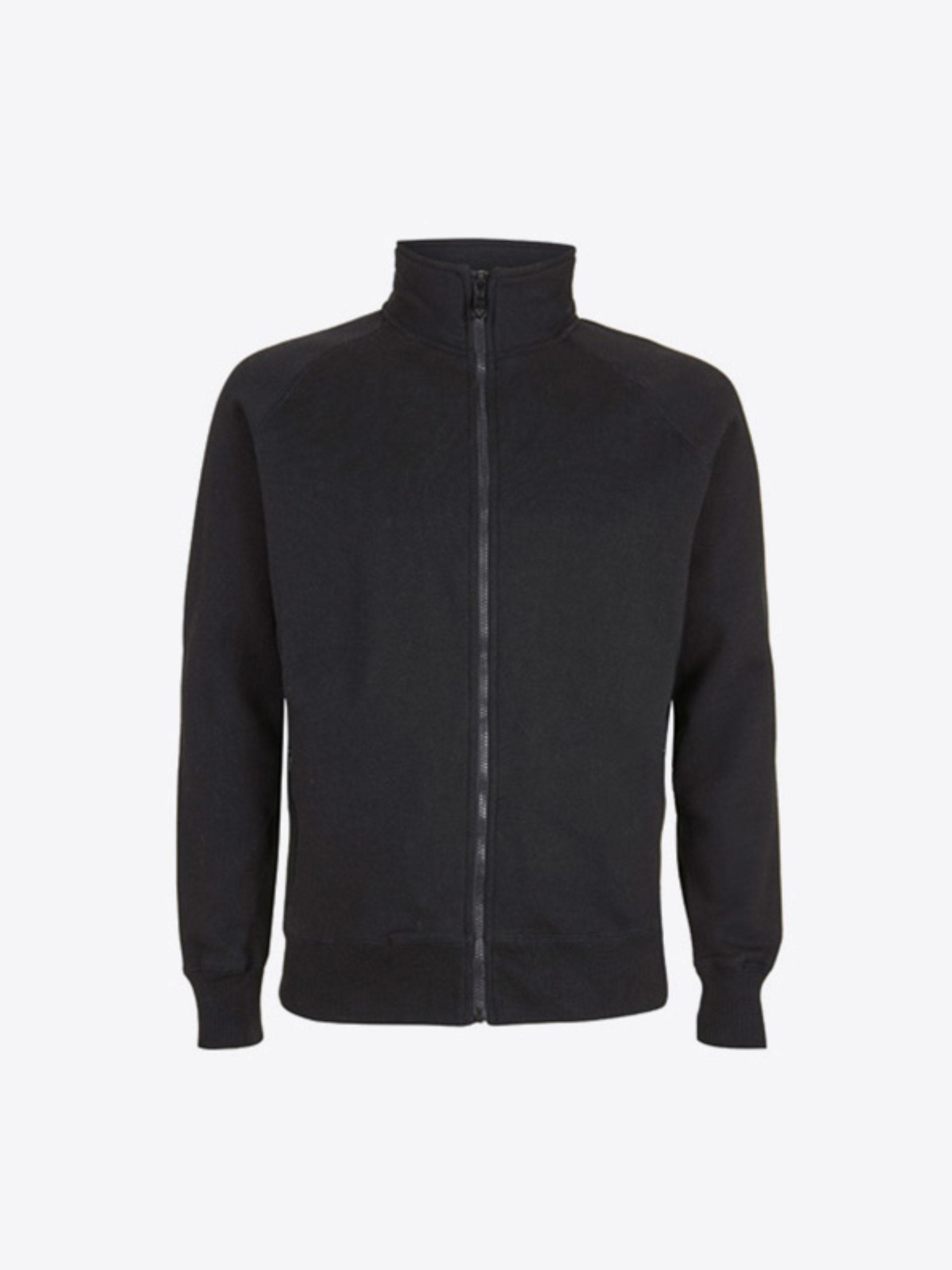 Herren Sweatshirt Zip Hoodie Bedrucken Mit Rundhals Continental N56 Black