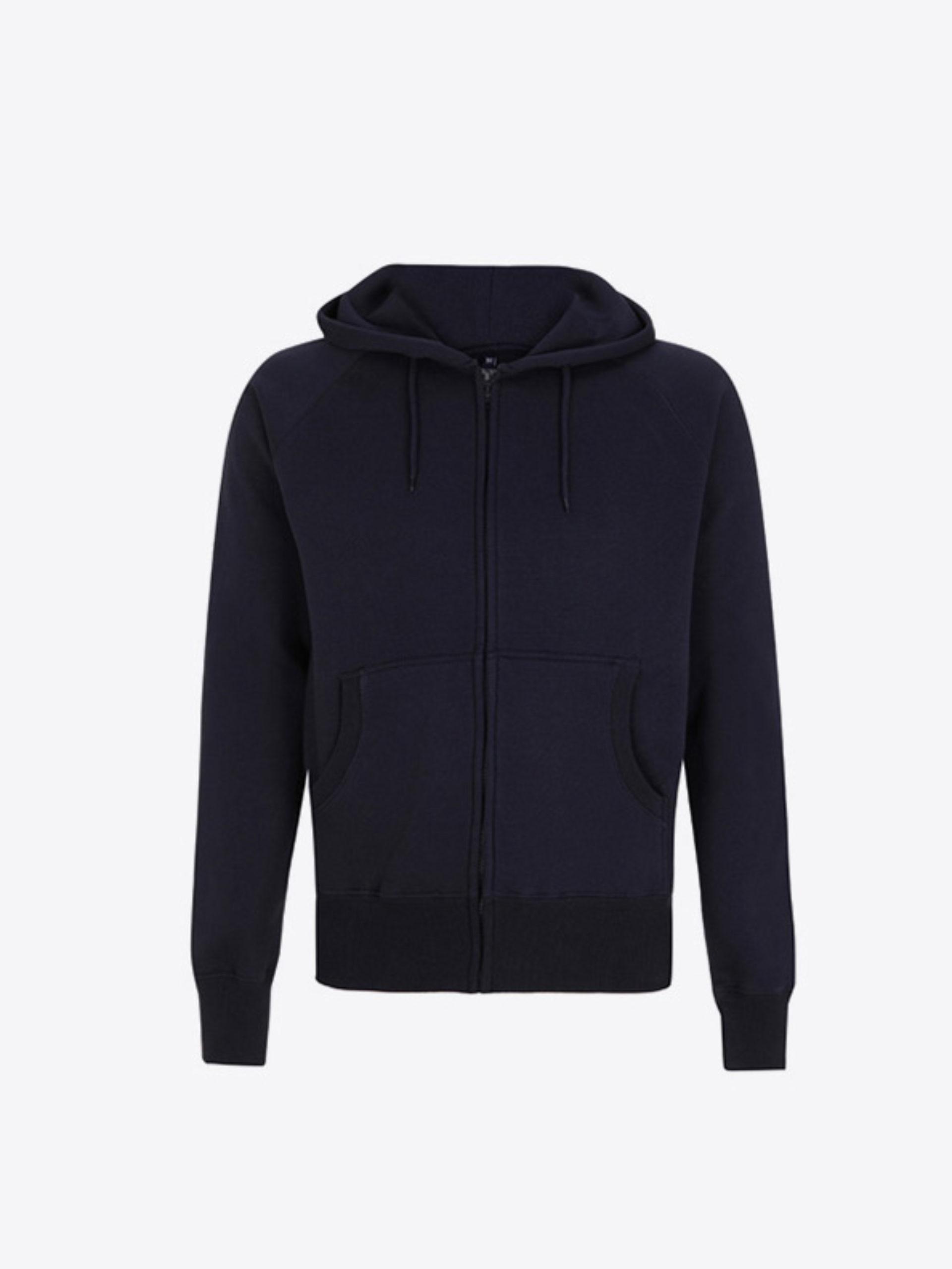 Herren Sweatshirt Zip Hoodie Besticken In Zuerich Continental N51z Navy
