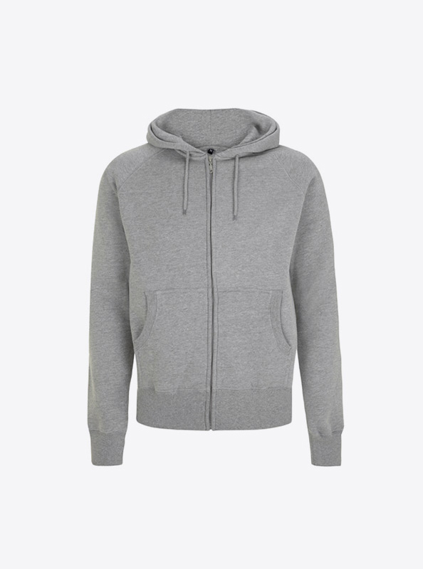 Herren Sweatshirt Zip Hoodie Drucken Mit Logo Continental N51z Light Heather